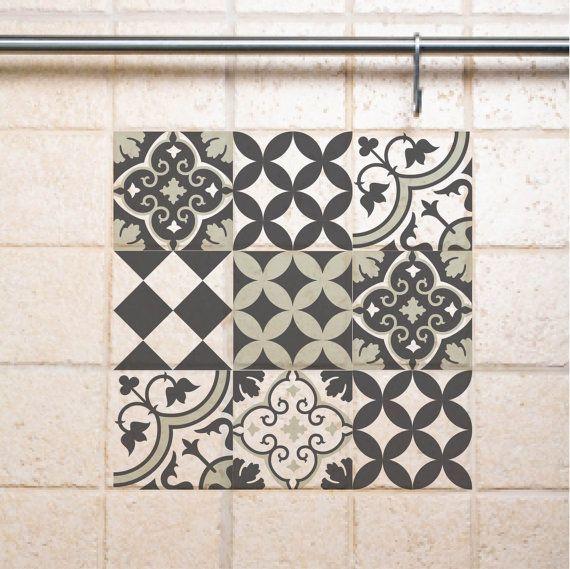Mix Tile Decals Kitchen Bathroom Tiles Vinyl Floor Tiles Free Etsy Tile Decals Wall Tiles Decorative Tile