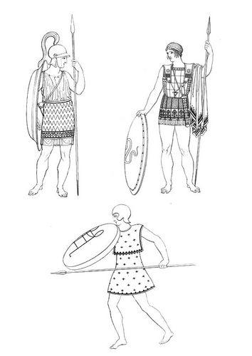 Dibujo para colorear Soldados griegos | grecia | Pinterest | Griego ...