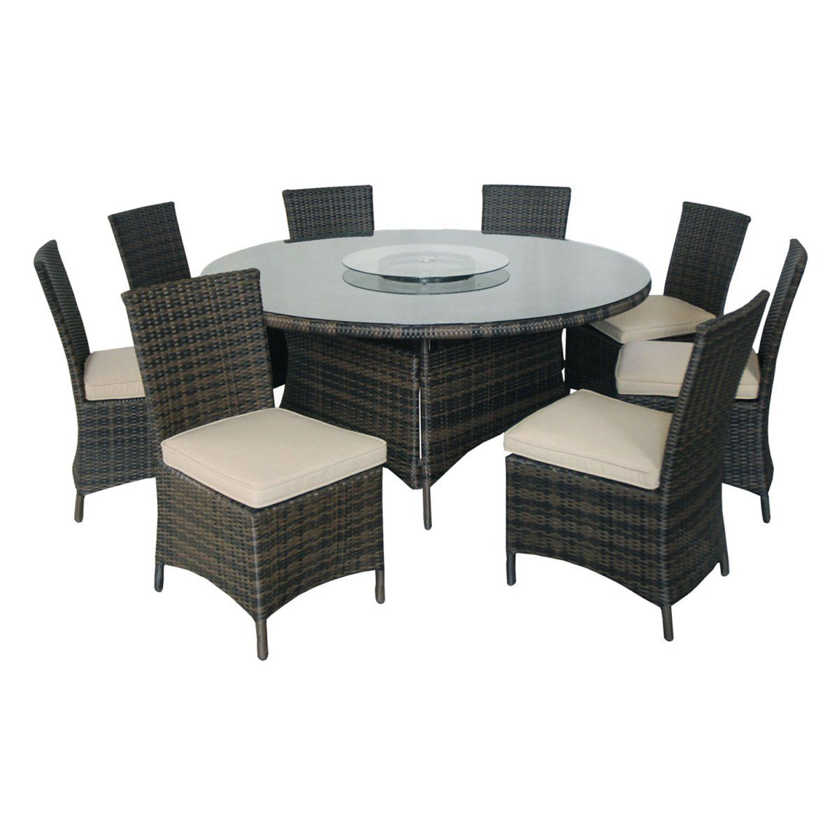 Creative Living Monte Carlo 9 Piece Round Patio Dining Set From Hayneedle Com Fire Pit Dining Set Round Dining Set Patio Dining Set