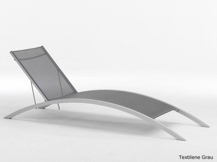 rondo gartenliege sonnenliege saunaliege alu grau. Black Bedroom Furniture Sets. Home Design Ideas
