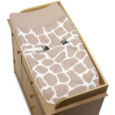 Sweet Jojo Designs Giraffe Collection Changing Pad Cover Pad-Giraffe-TP,    #Sweet_Jojo_Designs_Pad-Giraffe-TP