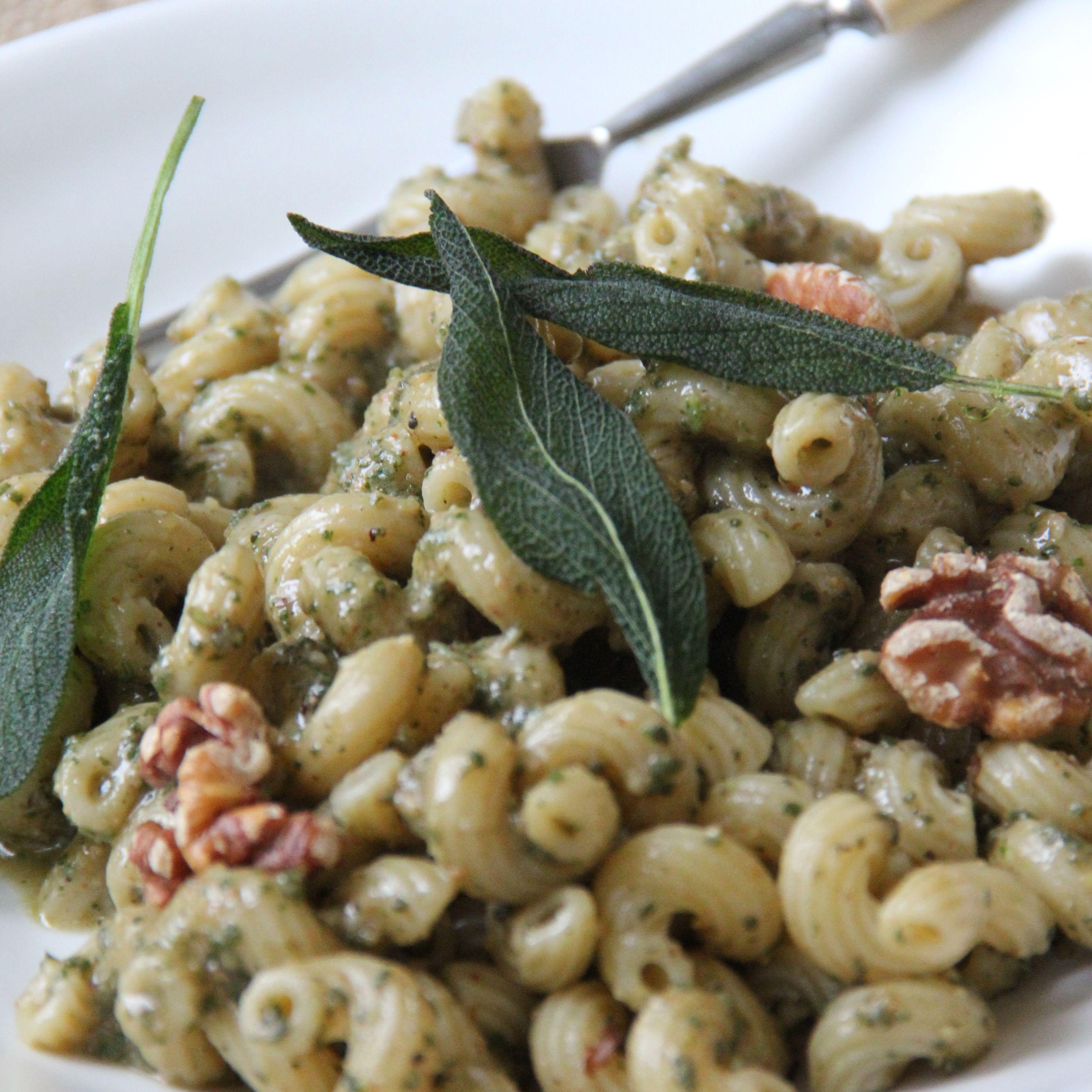 Sage walnut pesto pasta recipe walnut pesto pasta food and explore pasta food pesto pasta and more forumfinder Images