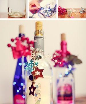 wine bottle lights by elsie
