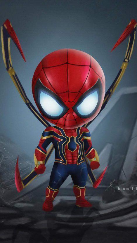 Cute Iron Spiderman iPhone Wallpaper Spiderman dibujos