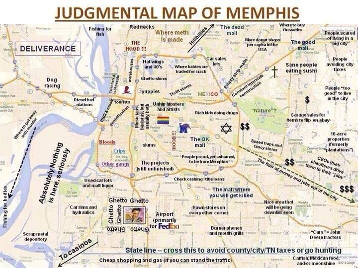Judgmental Map Of Chattanooga