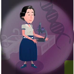 Biografía Rosalind Franklin Inventores Ciencia Y Dibujos