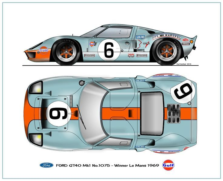 Ford Gt40 Mk I Jacky Ickx Le Mans 1969 Winner Ford Gt Ford