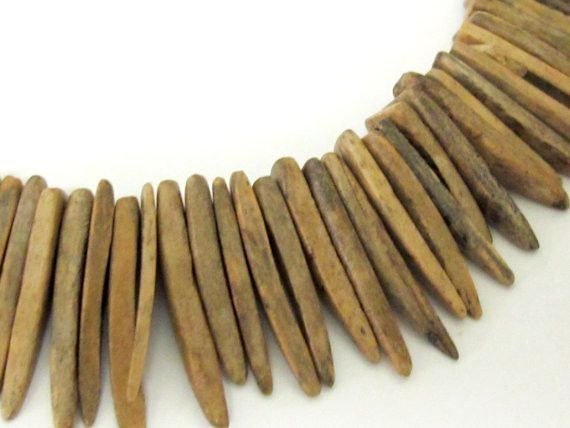 1 Full strand - Natural coconut sticks Full Strand 15 inches - NB049s