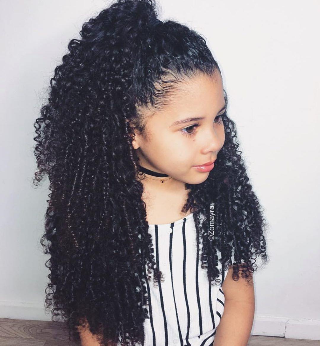 Describe Her In One Word Voiceofcurls Zomayra Baby Girl Hairstyles Mixed Girl Hairstyles Mixed Curly Hair