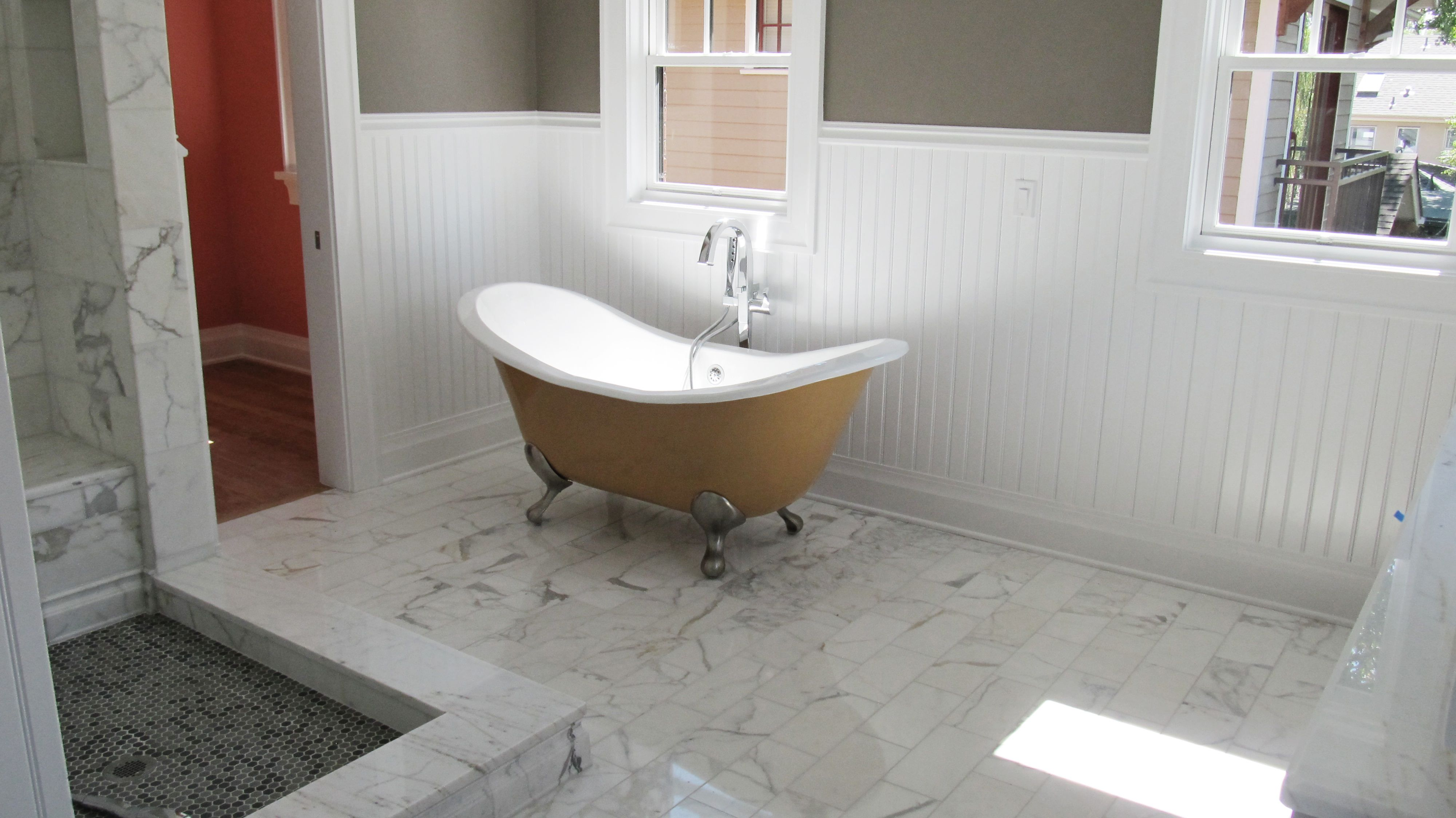 Nothing Like Really Dressing Up Your Bathrooms With Some Cool Wainscoting Love Aj Kirkegaard Contractors Gets Credit For These Beautiful Bathroom Upgrades
