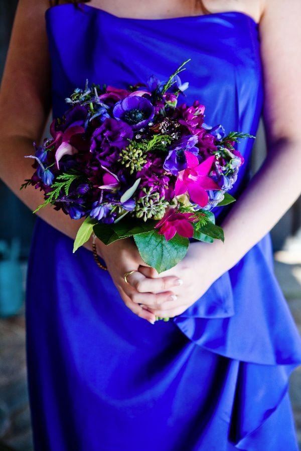 Flowers For Cobalt Blue Dresses Blue Wedding Flowers Royal Blue
