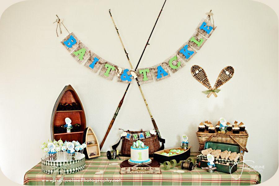 Elegant Vintage Fishing Birthday