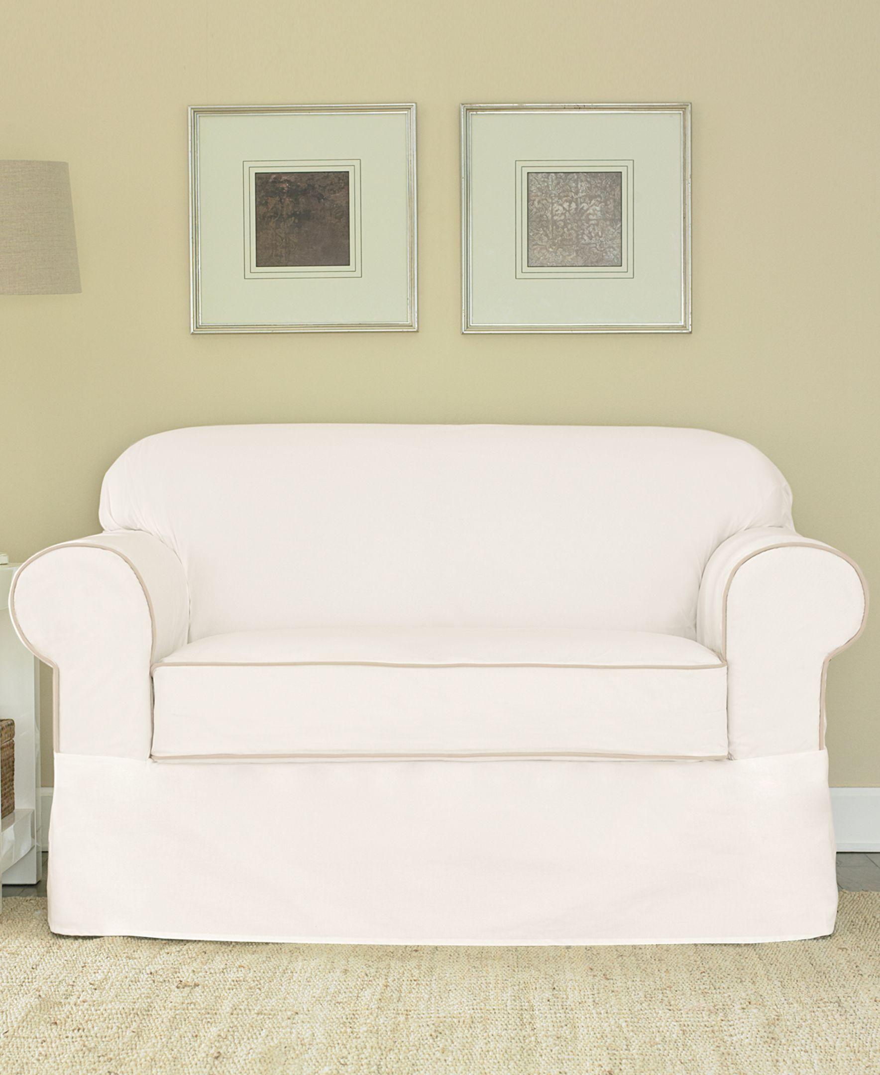 Sure Fit Spectator Canvas Loveseat Slipcover Loveseat Slipcovers Love Seat Slipcovers