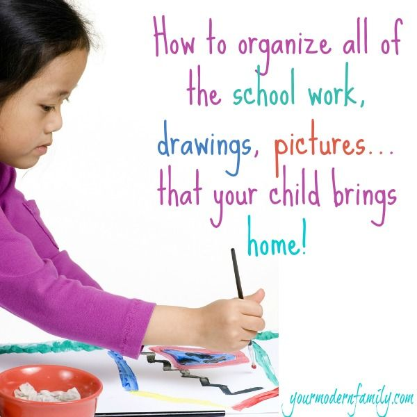 How To Organize School Work That Comes Home