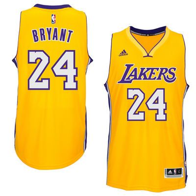 671e2cb3575 ... Kobe Bryant Los Angeles Lakers adidas Player Swingman Home Jersey -  Gold ...