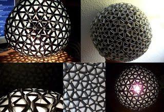 Lampara globo tetrabricks o tetrapacks reciclados : VCTRY's BLOG