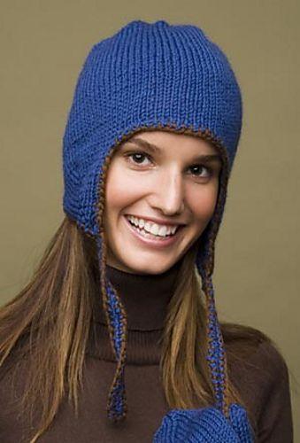Ravelry: Earflap Hat #60461 pattern by Lion Brand Yarn ...