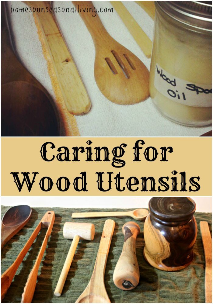 How To Care For Wooden Kitchen Utensils Diy Cleaning