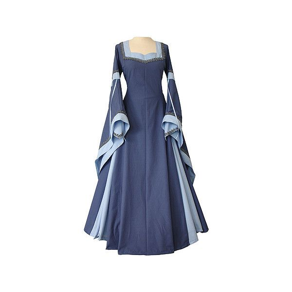 dornbluth.de - mittelalterliche gewandungen (€235) ❤ liked on Polyvore featuring dresses, medieval, costumes, medieval dresses and gowns