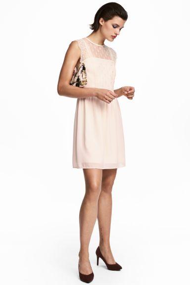 Stili Alla Moda. Abito in pizzo - Rosa cipria - DONNA  ab4e4b5e00a