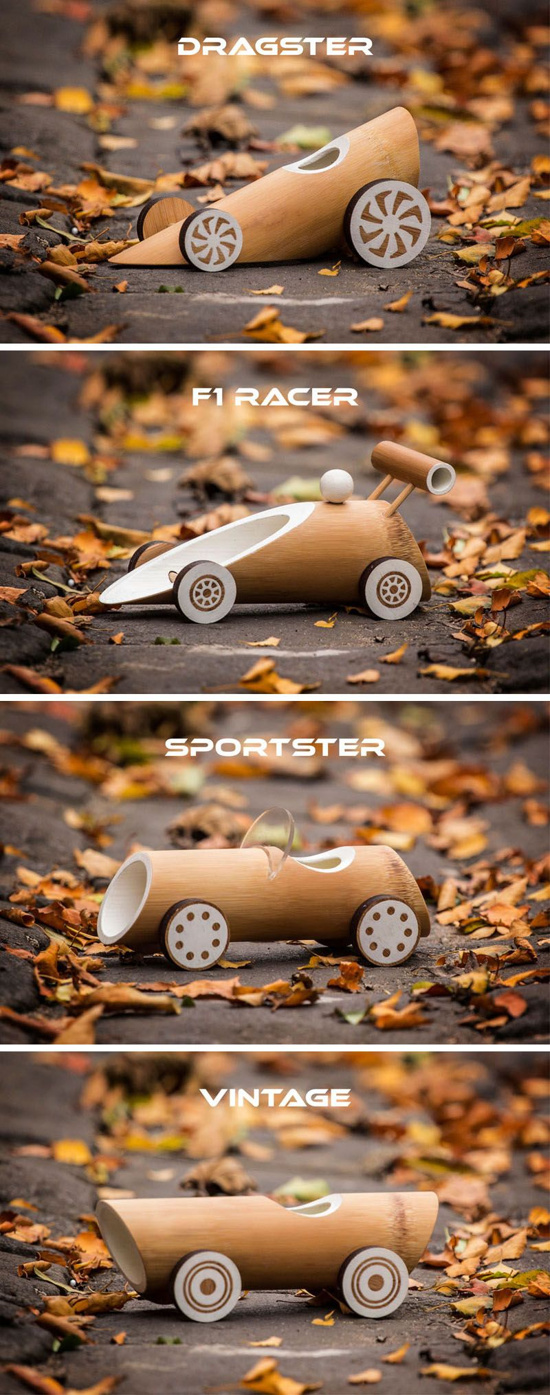 These New Eco Friendly Bamboo Toy Cars Are Fully