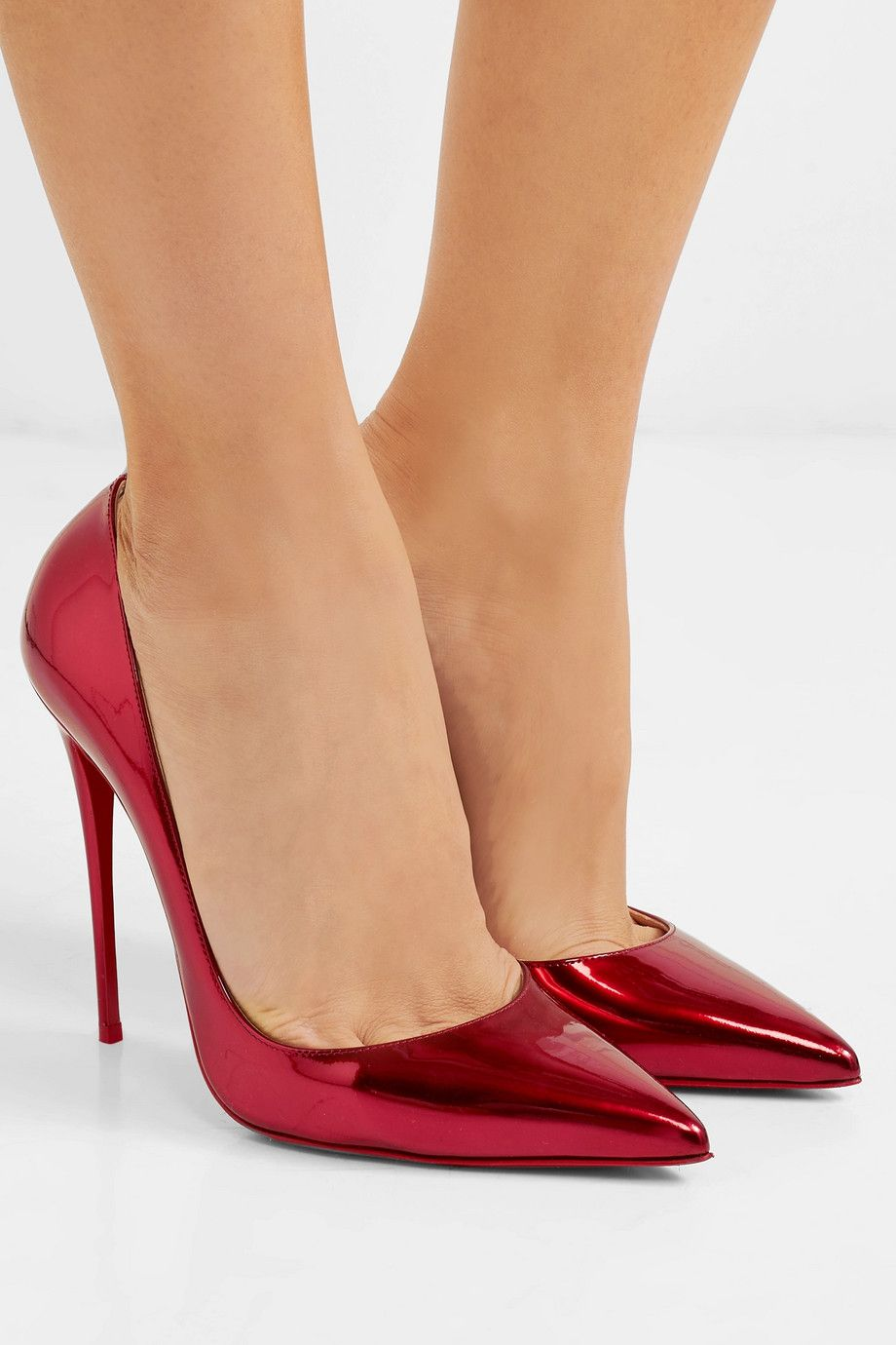 new arrival 195ff 2d88b Christian Louboutin - So Kate 120 metallic patent-leather ...