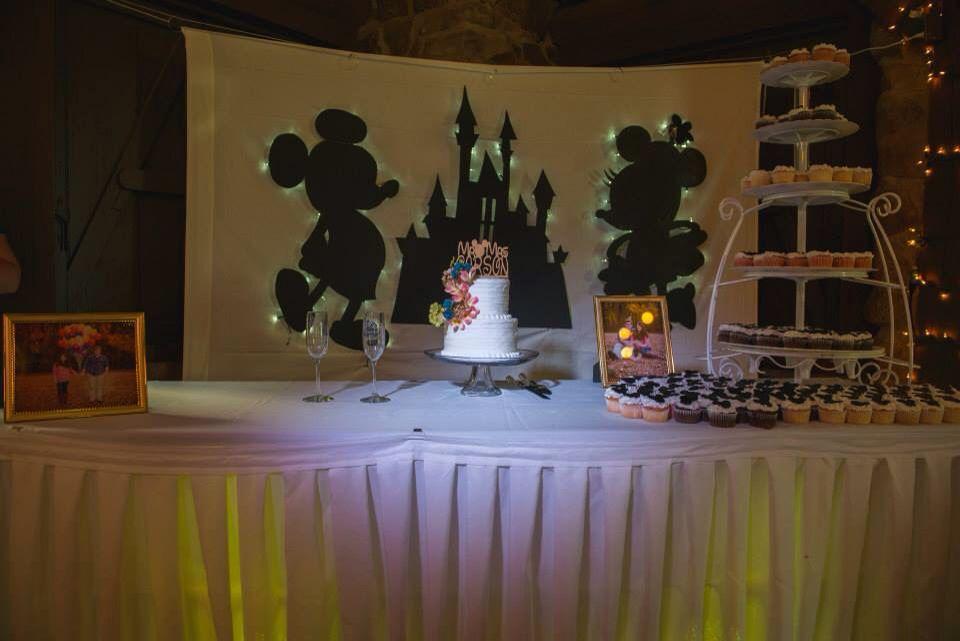 Disney Themed Wedding Cake Table Magic Carson Ride Pinterest