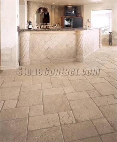 Durango travertine floors hotel azola pinterest piedra for Fotos de pisos de marmol travertino