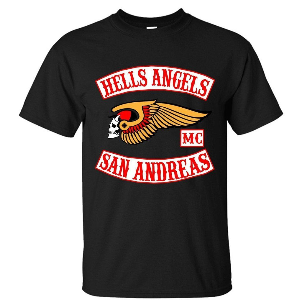 xmana men 39 s top hells angels motorcycle club t shirt. Black Bedroom Furniture Sets. Home Design Ideas