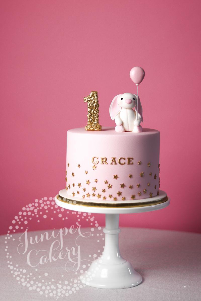 Pleasing Bunny Cake By Juniper Cakery Bunny Birthday Cake Baby Birthday Personalised Birthday Cards Sponlily Jamesorg
