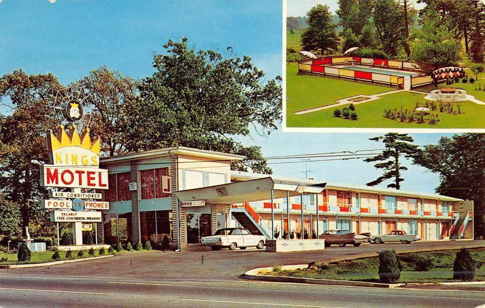 Perryville Maryland Kings Motel Multiview Vintage Postcard K47118 12 00