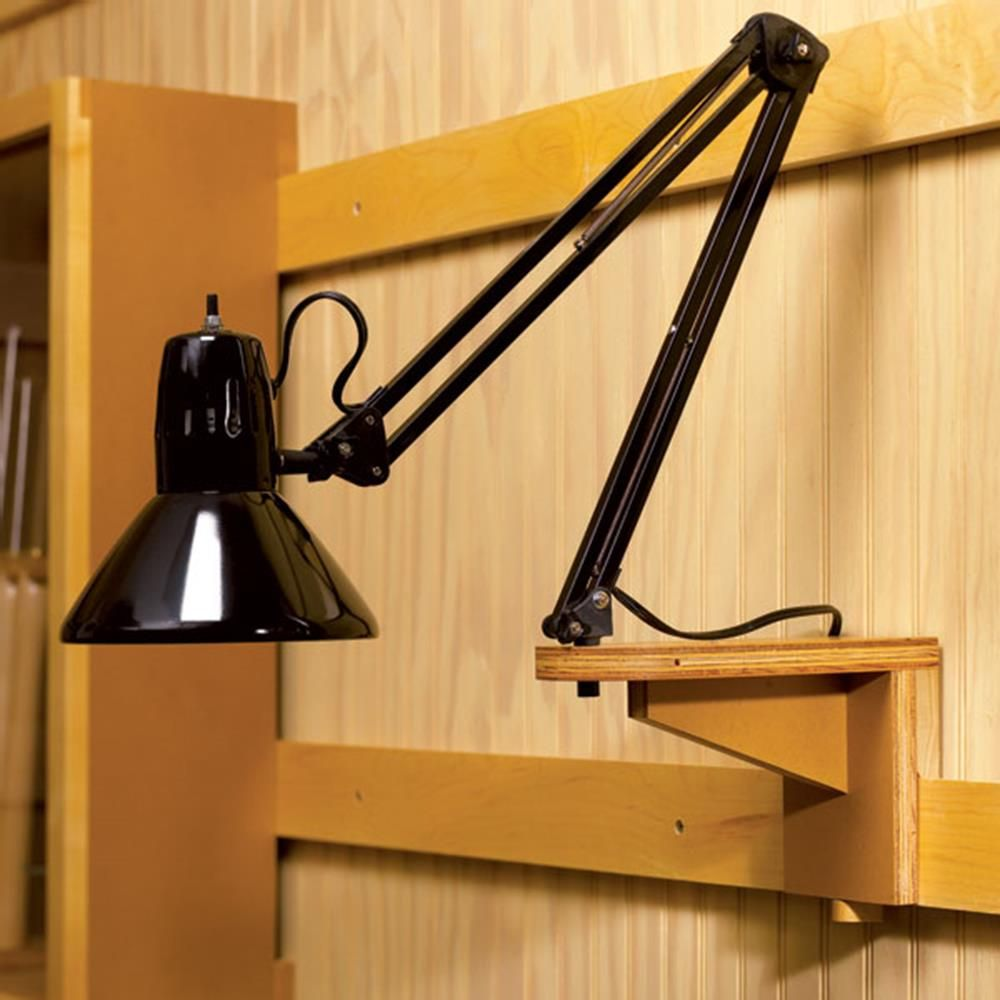 Workshop Light Support Woodworking Plan, Workshop & Jigs