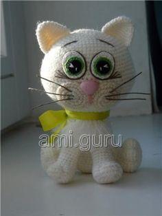 красивая кошка крючком описание (с изображениями ...