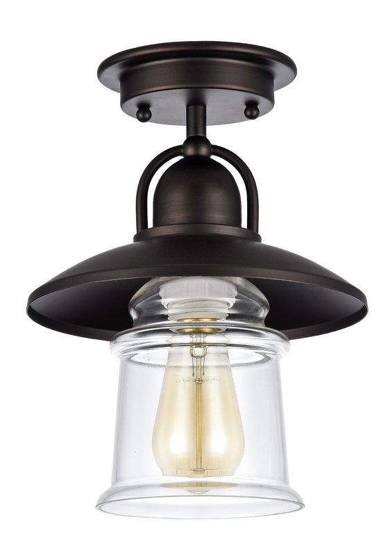 "Abelia 1 Light 6.5"" Simple Cone Flush Mount Modern"