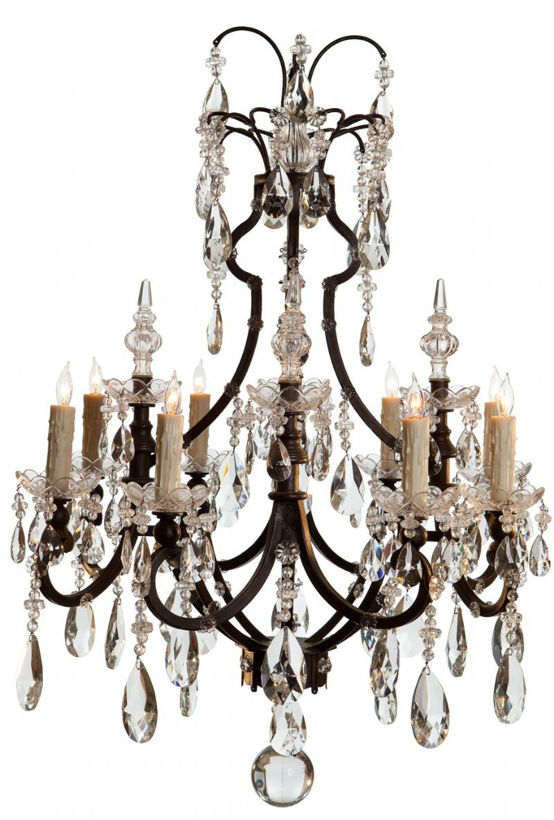 ebanista lighting. Ebanista Crystal Chandelier Iron Cage Lighting