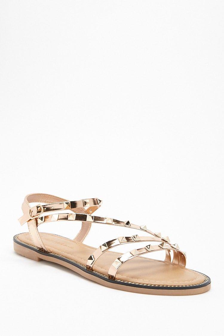 1792d327e65e Studded Metallic Sandals