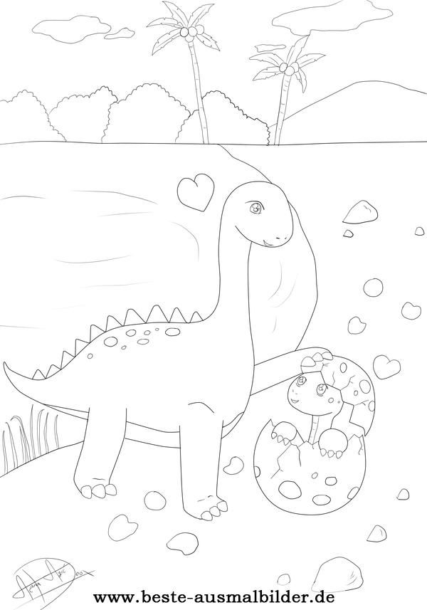 beste ausmalbilder  ausmalbilder dinosaurier bilder