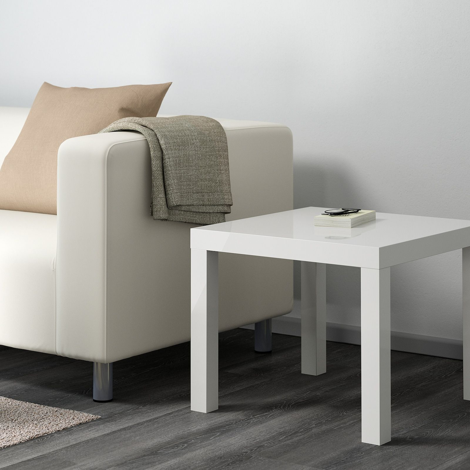 Lack Side Table High Gloss White 21 5 8x21 5 8 Ikea In 2020 Ikea Lack Side Table White Side Tables Black Side Table