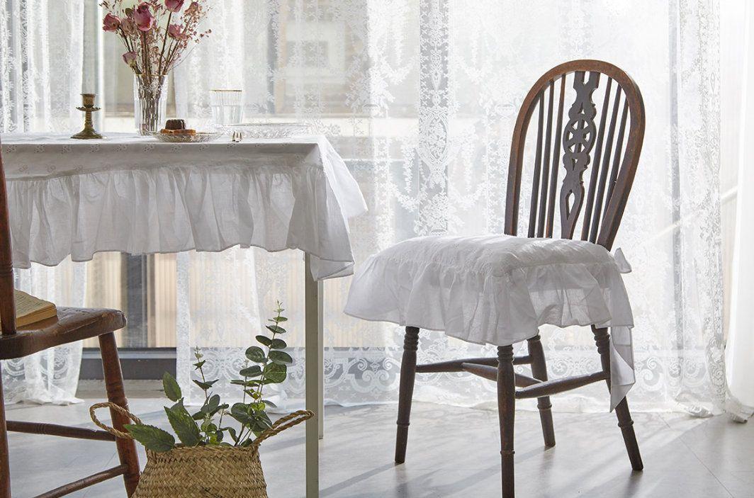 Cozymomdeco White Soild French Punching Cotton Ticking