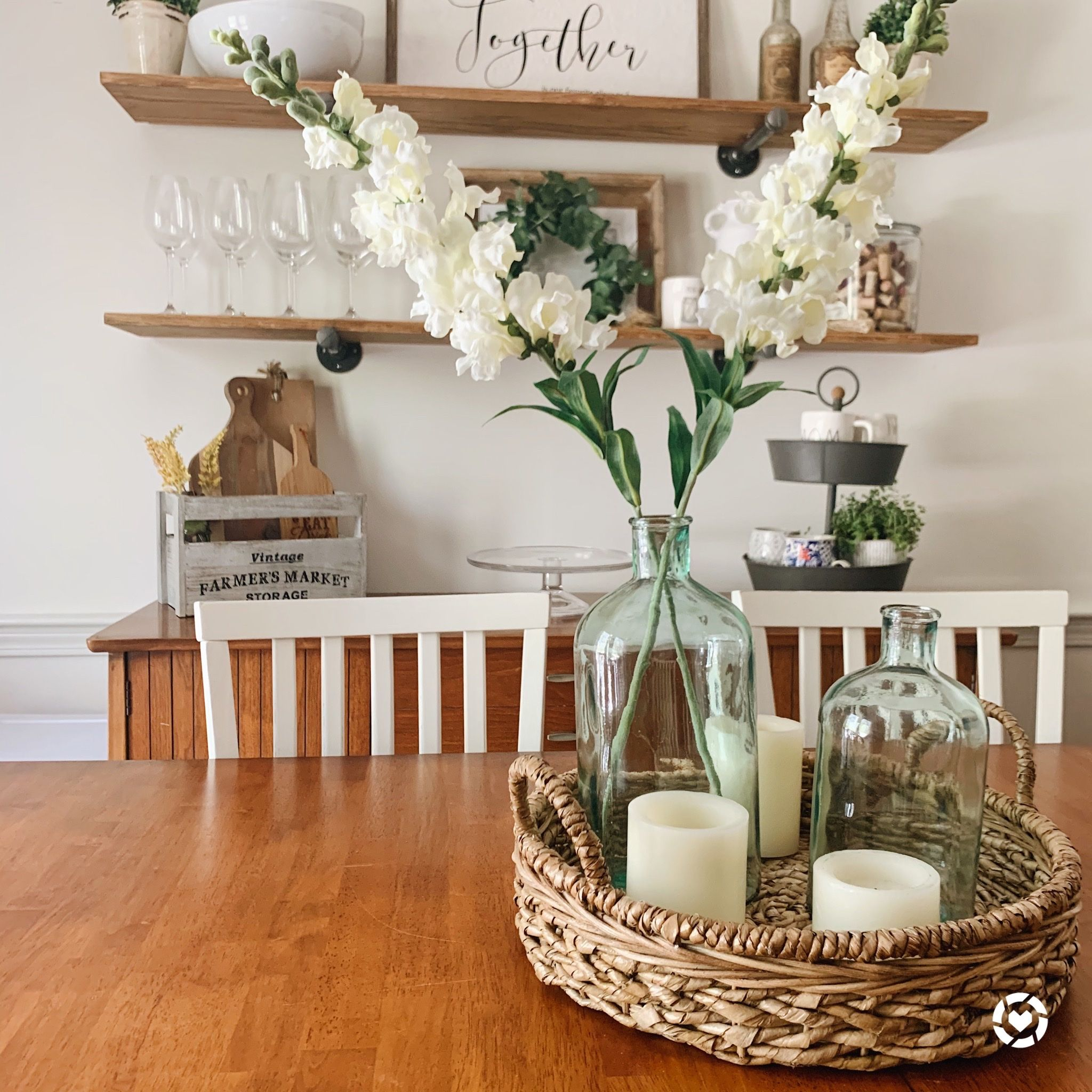 Farmhouse Dining Room Decor Spring To Summer Dining Room Centerpiece Table Centerpieces For Home Dining Room Table Decor