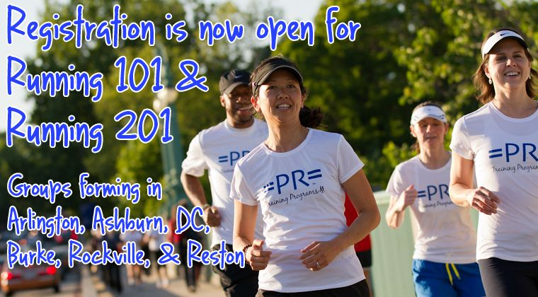 Running 101 & 201 classes with Potomac River Running in Reston Town Center