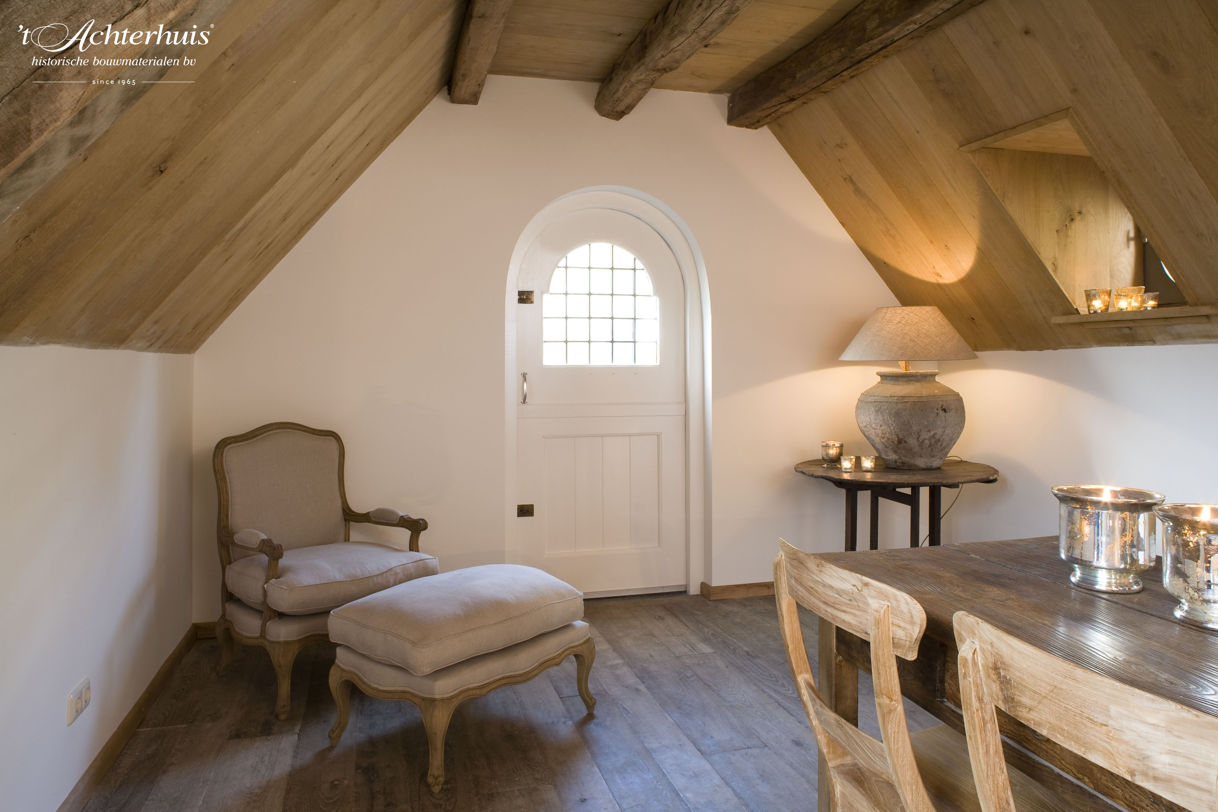 Old wooden floors available at t achterhuis. oude bouwmaterialen