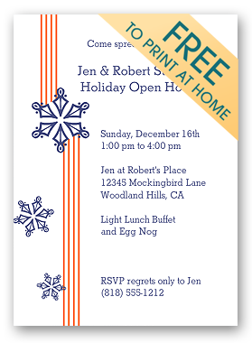 Free Printable Christmas Invitation  Free Christmas Invitations Printable Template