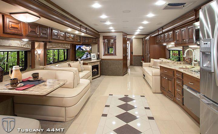 thor motor coach tuscany diesel coach interior living a dream rh co pinterest com 2019 Thor Motorhomes Interior 2 Story Motorhome Interiors