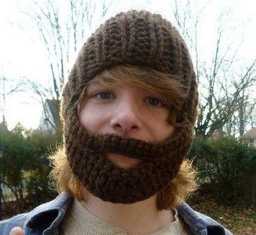 Knitted Beard Hat
