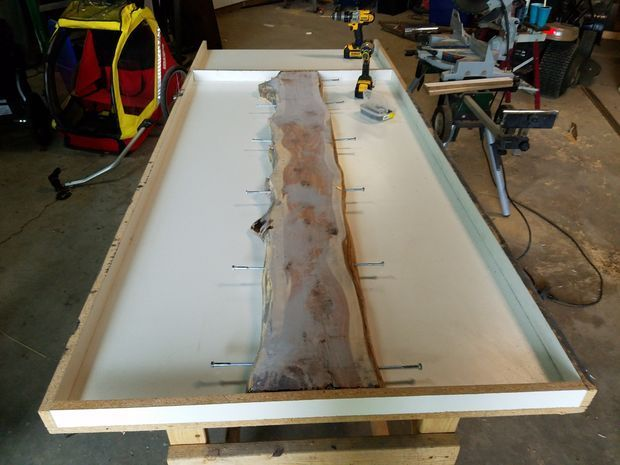 Beton Und Holzplattentisch Gunook Zedernholz Holzplatte