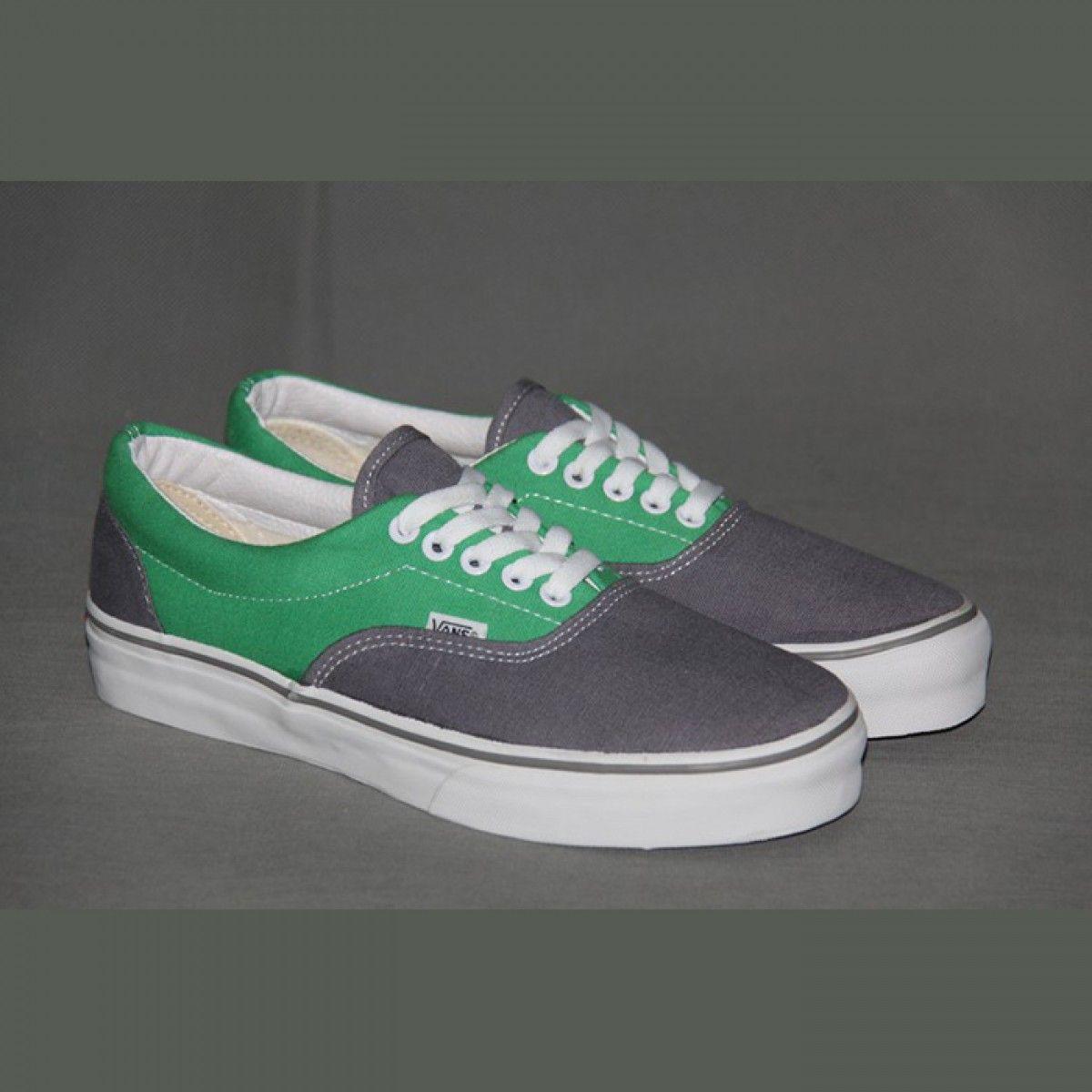 green vans era shoes