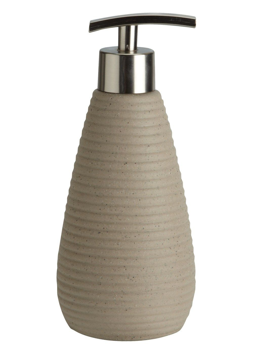 Ridged Spa Stone Soap Dispenser (19cm x 7cm) – Matalan. Decorative  AccessoriesBathroom ...