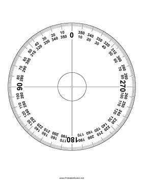 Make Perfect Circles With This 360 Degree Printable Protractor Free To Download And Print Protractor Drawing Tools Printable Ruler