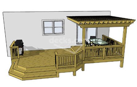 Patio Home Plans additionally 147000375313426750 also Mobile Home Covered Decks as well 1lx2324 likewise Finished Framing The Roof. on diy mobile home porch blueprints